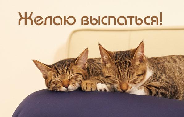 Желаю выспаться!